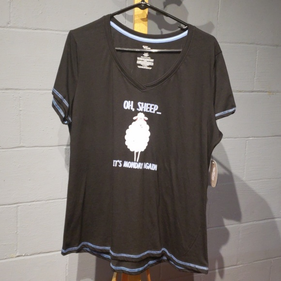 4a420563bc E secret treasures short sleeve sleep shirt size L